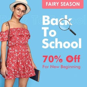 Акция «Back To School Promotion Up To 70% Off» на Распродажа.ру