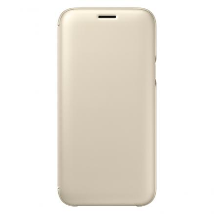 Чехол для Samsung Galaxy J5 2017, Wallet Cover (EF-WJ530CFEGRU)Gold