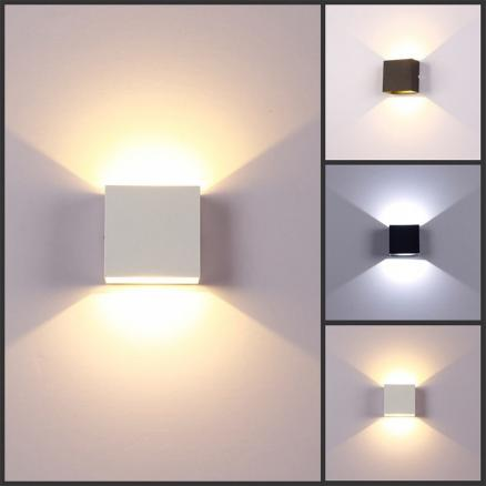 Cubic COB LED indoor lighting wall lamp modern home lighting decorative applique aluminum lamp 6W 85-265V stairway corridor lamp