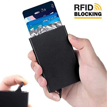 LILY QUEEN Credit Card Holder Metallic Men Slim Anti-theft Protect Travel ID Cardholder Mult-card Holder