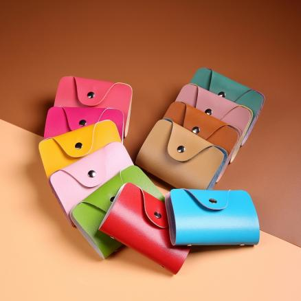 Simple Design PU Case Card Package Women Bank Cards Holder Credit ID Card Bags Men Solid Color Travel Mini Clutch Vover
