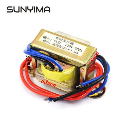 SUNYIMA Transformer Dual AC12V Spot Welder Matched 12V Power Supply Transformador 3W Input AC220V 50Hz Converter
