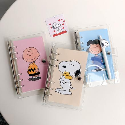 Hot Sale Simple Style Rogue Dog Loose Page Handbook A6 Grid Notebook Student Agenda Planner Diary Stationery School Supplies