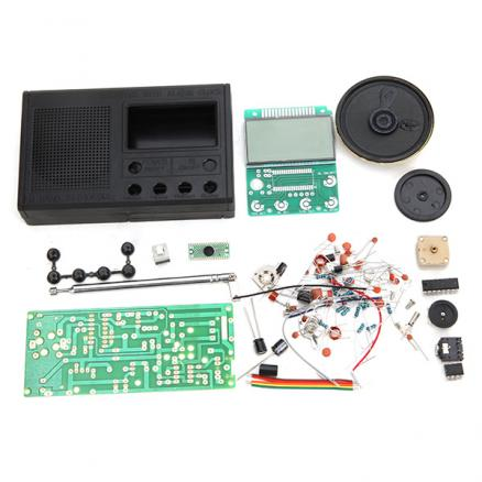 High Quality DIY FM Radio Kit Electronic Learning Assemble Suite Parts For Beginner Study School Teaching Broadcast Radio Set