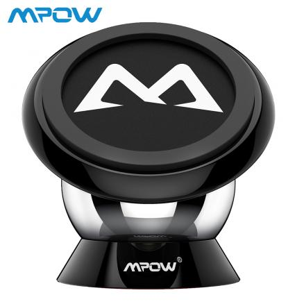 Mpow Magnetic Car Phone Holder Universal Car Mount Holder 360 Degree Mount Max Bearing Capacity 250g For iPhone X /8/7/6 Plus