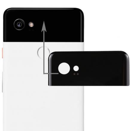 New for Google Pixel 2 XL Back Cover Top Glass Rear Housing Replacement Spare Parts