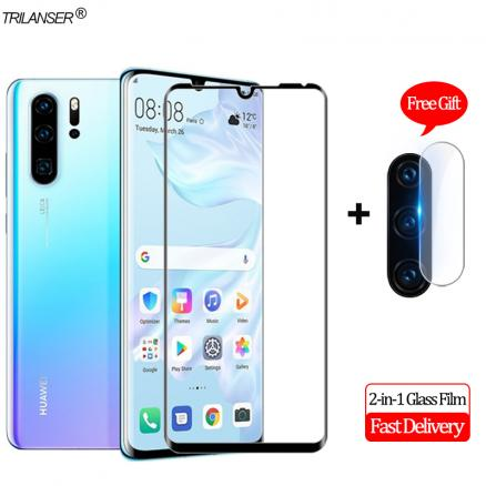 2-in-1 Camera Len Glass Film Huawei P30 Pro Screen Protector Protective Glass Huawei P30 Lite Tempered Glass Huawei P 30 Pro