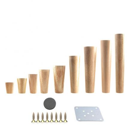 1Pcs Natural Solid Wood Furniture Legs Cone Shaped Wooden Feets Cabinet Table Legs