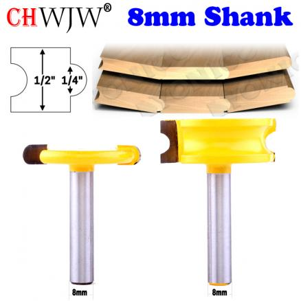 """2pc 8mm Shank 1/4"""" Dia. Canoe Flute and Bead Canoe Joint Router Bit  cutter woodworking bits wood milling cutter"""