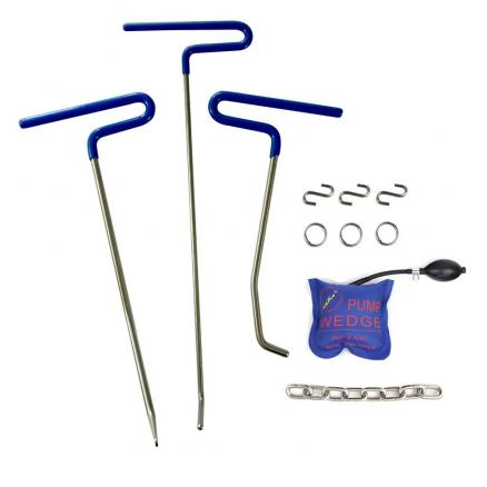 PDR Rod Tools Kit- Hail and Door Ding Repair Starter Set PDR Hook Tools Push Rod Car Crowbar Auto Body Dent Removal