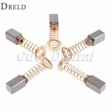 10pcs/5Pairs Mini Drill Accessories Carbon Brush Dremel Rotary Tool Spare Parts for Generic Electric Motor Power Tools 5x5 x8mm