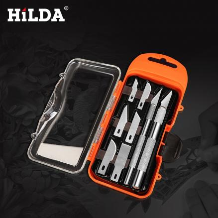 HILDA Craft Artwork Cutting Knife DIY Carving Knife Stencil Scoring Hobby Chiseling Model Repairing Sculpture Scalpel Knife