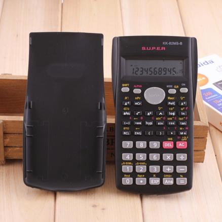 Handheld Student's Scientific Calculator 2 Line Display 82MS-B Portable Multifunctional Calculator for Mathematics Teaching