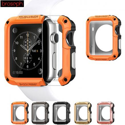Screen Protector Shell Case for Apple Watch 38mm 42mm SGP TPU Full Cover Protective Cover for iwatch Series 1 2 3 4 40mm 44mm