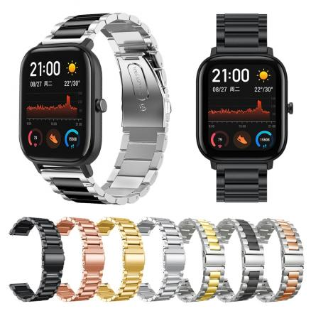 New Metal Strap For Xiaomi Huami Amazfit GTS Watch Stainless steel Bracelet Wrist Band for Amazfit GTR 42mm / Bip lite Watchband