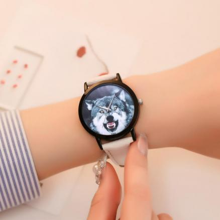 Wolf Unisex Beautiful Ladies WristWatch 2018 Fashion Simple Temperament Business Stainless Steel Souvenir gift hand clock #D