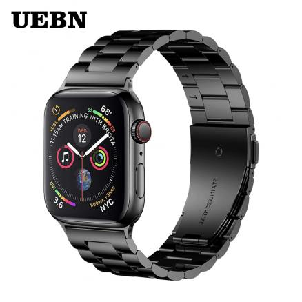 UEBN Classic Metal Stainless Steel Band for Apple watch Series 4 3 2 1 Watchband Strap for iWatch 40mm 44mm 42mm 38mm strap