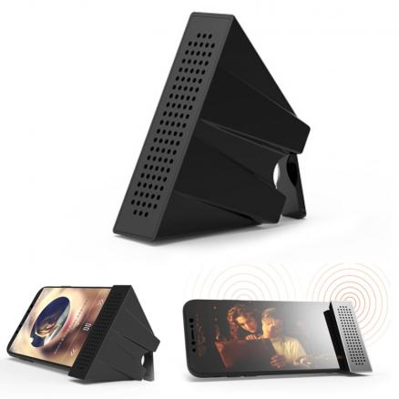 Portable Mobile Phone Loudspeaker Speaker Holder Sound Amplifier Bracket Desktop Folding bracket loudspeaker with packing