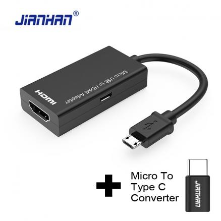 Type C Micro USB To HDMI Adapter MHL Converter For TV Monitor 1080P HD HDMI Audio Video Cable For Samsung HUAWEI Xiaomi