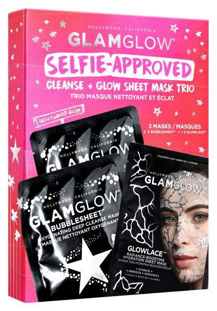 Glamglow Selfie-Approved Cleanse + Glow Sheet Mask Trio