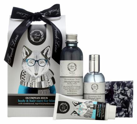 Fresh Line Olympian Zeus Body and Hair Care for Him Set
