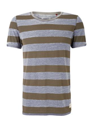 1/2 Slv Striped Tee