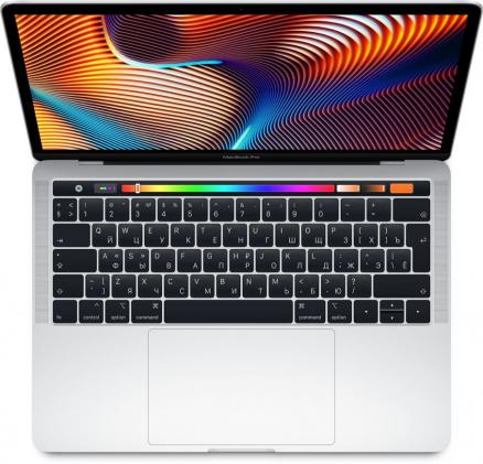 "Apple MacBook Pro 13"" 256GB Touch Bar (серебристый) (MacBook Pro 13 with Retina display and Touch Bar Mid 2018 (Intel Core i5 2300 MHz/13.3""/2560x1600/8GB/256GB SSD/DVD нет/Intel Iris Plus Graphics 655/Wi-Fi/Bluetooth/macOS))"