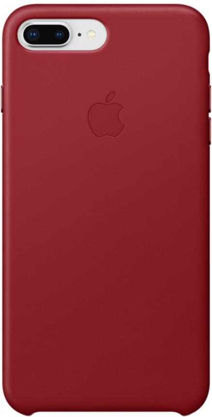 Клип-кейс Apple Leather Case для iPhone 7/8 Plus (красный)