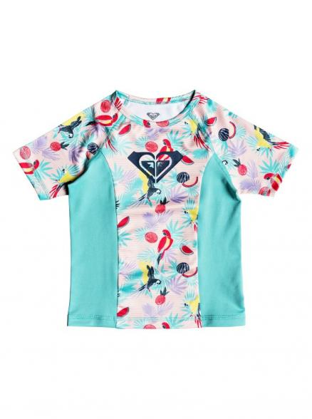 Гидрофутболка для девочек ROXY Simply Roxy Ss K Tropical Peach Parrots Island