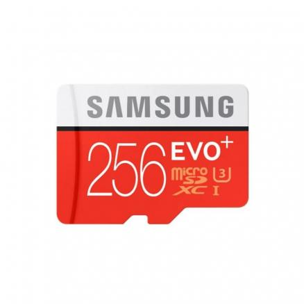 Карта памяти Samsung MicroSDHC EVO+ V2 256Gb+SD adapter(MB-MC256GARU)