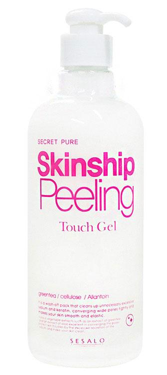 Увлажняющая пилинг скатка для лица и тела Elizavecca Secret Pure Skinship Peeling Touch Gel