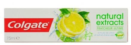 Зубная паста Colgate Natural Extracts Lemon Fresh 75мл