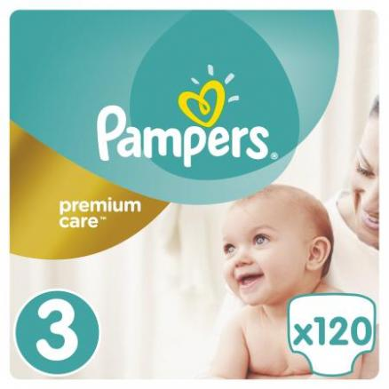Подгузники Pampers Premium Care 3 (5-9 кг) 120 шт