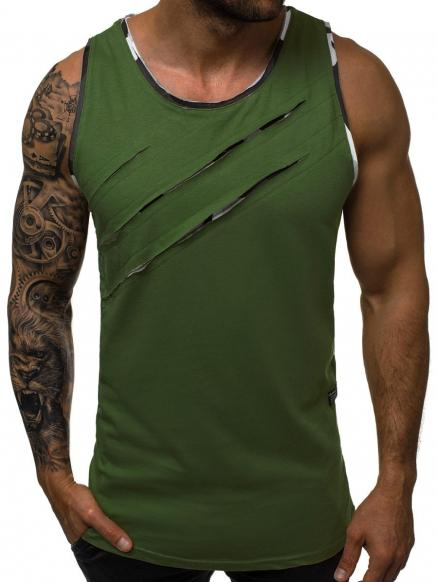 Scratches Patch Tank Top