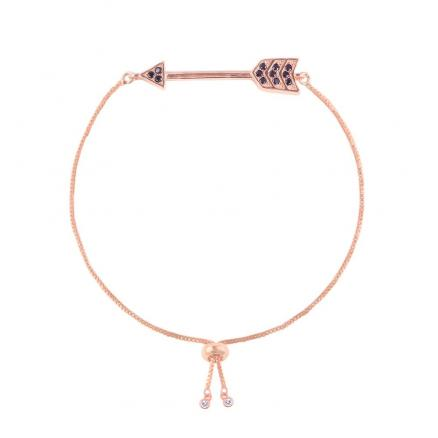 Minimalist Style Creative Arrow Micro-Inlaid Copper Zircon Bracelet