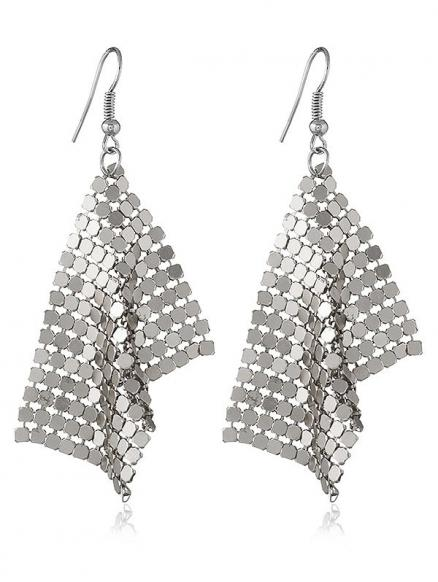 Statement Alloy Sequins Drop Earrings