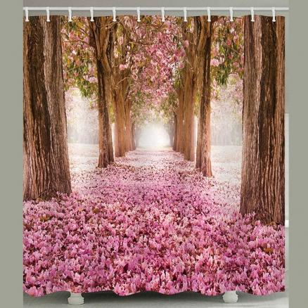 BK161 Sakura Forest Shower Curtain