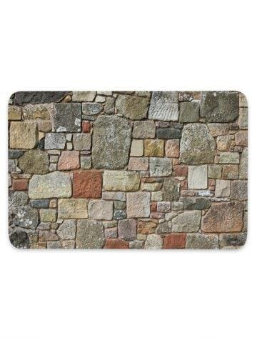 Stones Brick Wall Pattern Water Absorption Area Rug
