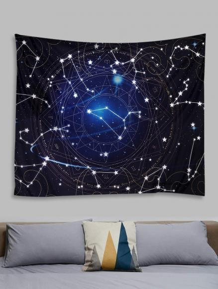 Constellation Starry Sky Print Tapestry Wall Hanging Art Decoration