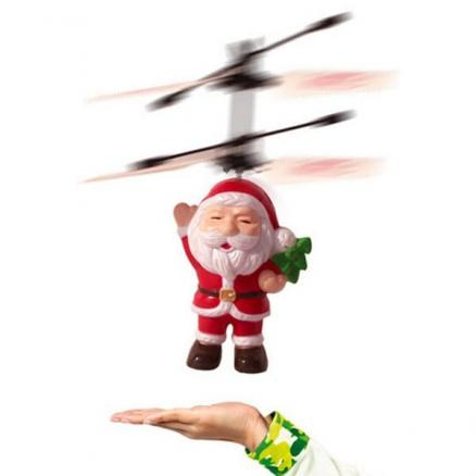 Santa Claus Suspension Induction Aircraft Toy