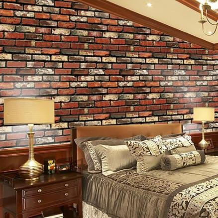 Home Decoration 3D Brick Texture Wall Sticker