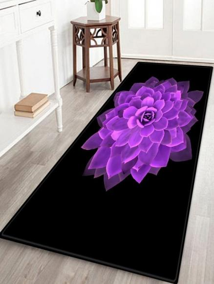 Flower Printed Design Floor Mat
