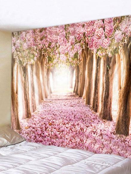 Flower Trees Avenue Print Tapestry Wall Hanging Decoration