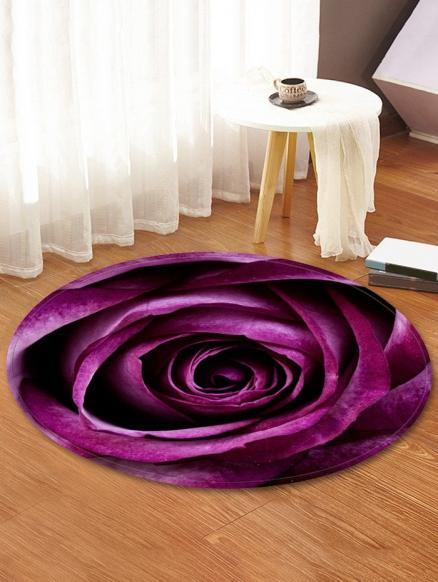 Rose Pattern Water Absorption Area Rug