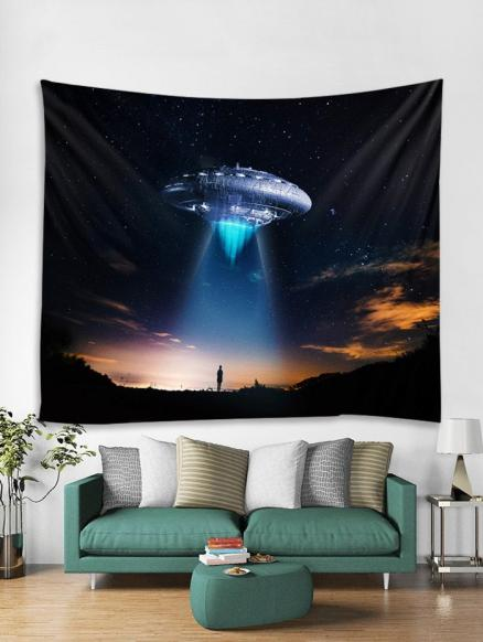 Starry Sky UFO Print Tapestry Wall Hanging Art Decoration