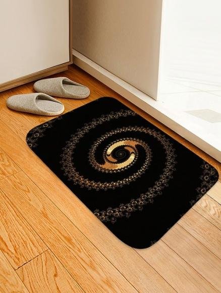 Abstract Spiral Pattern Water Absorption Area Rug