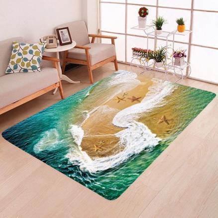 3D Beach Pattern Mat Carpet