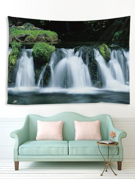 3D Waterfall Pattern Print Tapestry