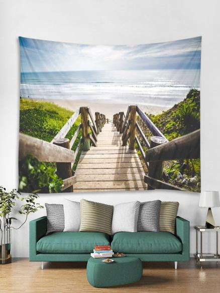 Sea Beach Bridge Tapestry Art Decoration