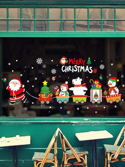 Merry Christmas Theme Snowflake Removable Wall Sticker